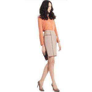 BCBGMAXAZRIA Kimi Pencil Skirt XS Brown Taupe